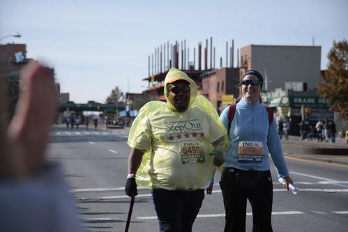 at the NYC Marathon