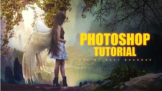 Fantasy Flying Girl Photoshop Manipulation | Okay Bhargav