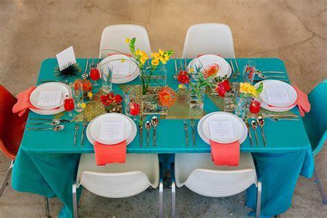 Modern, aqua & orange wedding ideas   Retro wedding   100