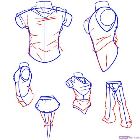 draw anime clothes step  step anime people