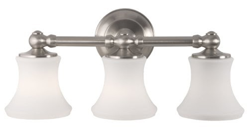 Shop Allen Roth 3 Light Vallymede Brushed Nickel: Bradleycarver: OrderNow Moen 18033-71 Cordin Vanity, 3