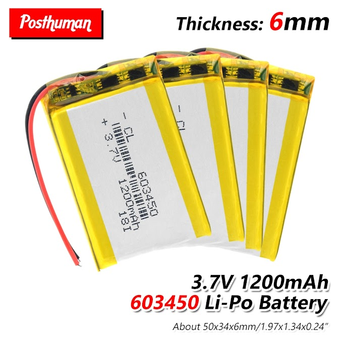 603450 Battery For MP3 MP4 GPS DVD mobile PAD E-books Drone Camera 3.7V 1200mAh 603450 Lithium Polymer LiPo Rechargeable Battery