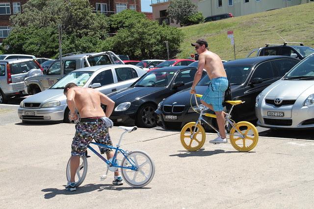 Guys and their BMX bikes