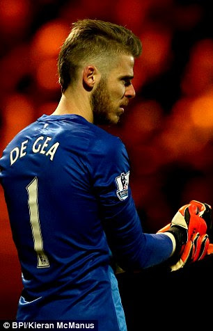 De Gea took to Twitter on Wednesday to express his delight with his girlfriend's good news