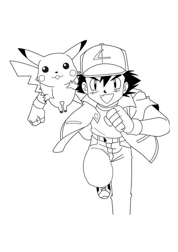 Choisi Coloriage Pokemon Sacha Et Pikachu Coloriages à