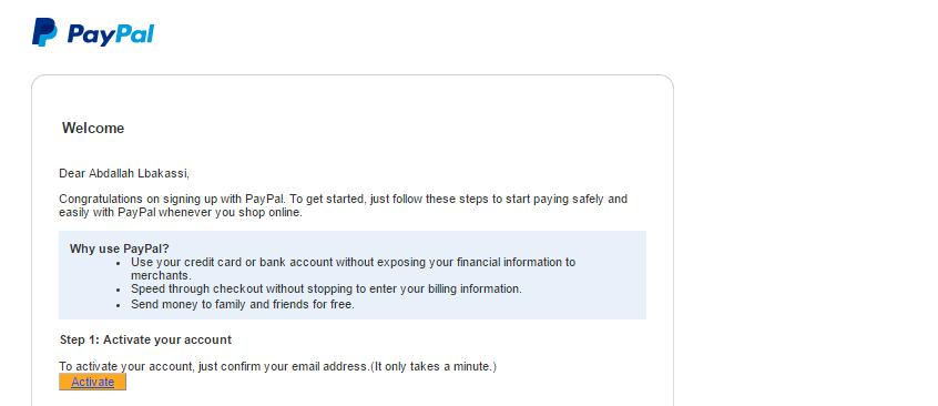 4 خطوات سهلة للحصول على حساب بايبال مفعل مجانا