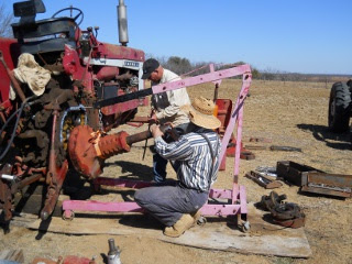 Preparing to Install Farmall 806 Tractor Axle