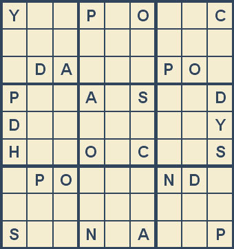 Mystery Godoku Puzzle for December 03, 2007