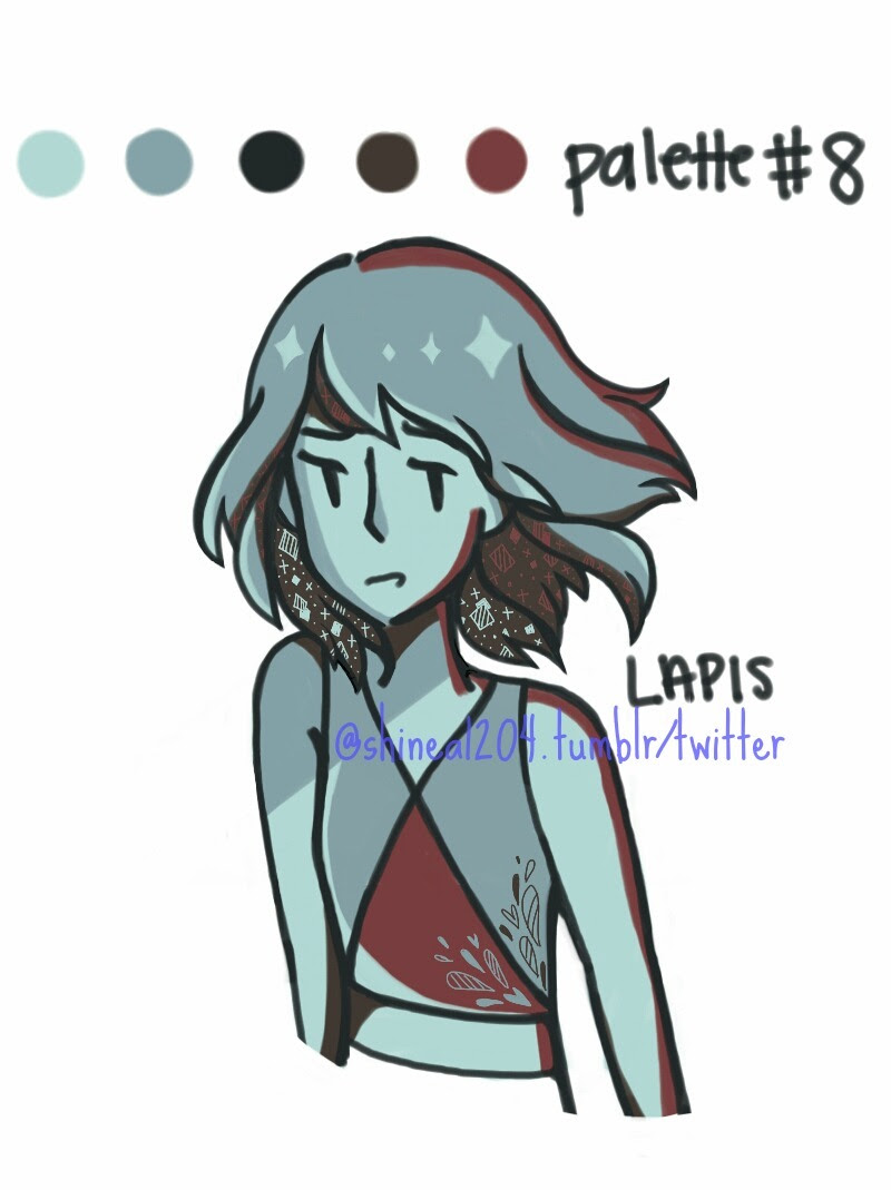 Yet Another Palette Challenge! Thanks everyone + this anon here! And in this piece, we're looking at lapis from above, sorry if the anatomy looks wonky… Tell me what you think! 🍑 commissions 🍑 twitter...