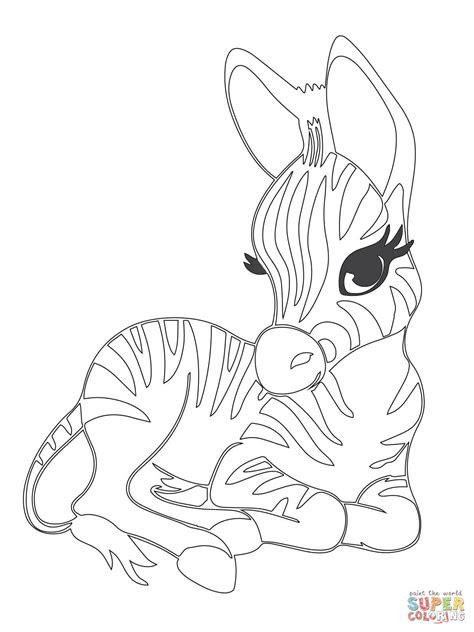 cute baby zebra coloring page  printable coloring pages