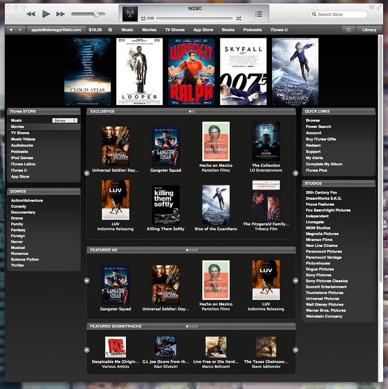 iTunes 11 Movie Trailers