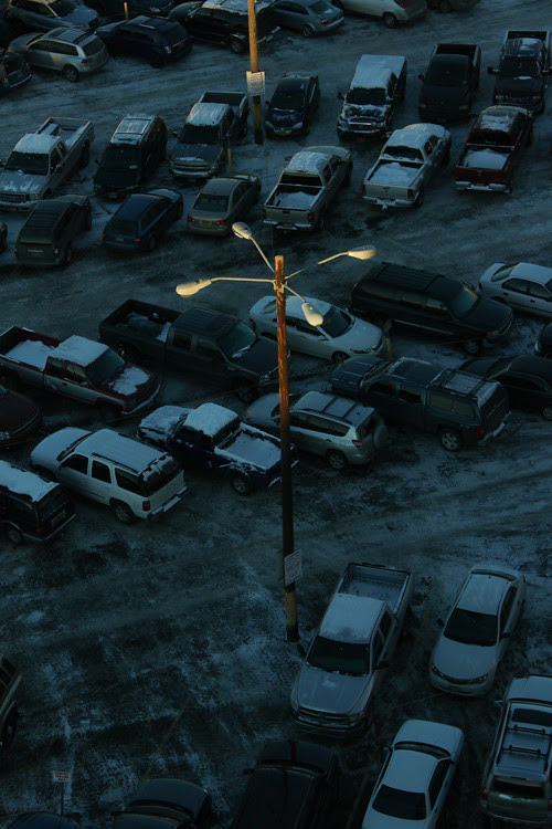 parking lot, cars, and light, Marriott, Anchorage, Alaska