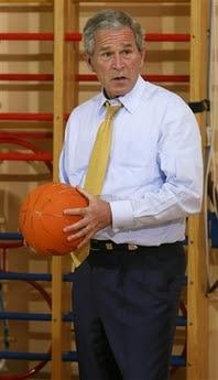 Bush & the basketball game of doom, 6.16.08   1