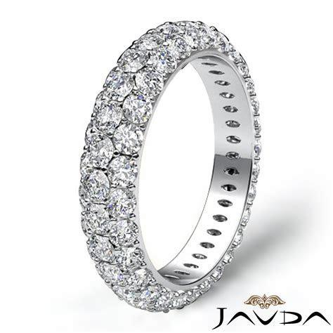 3 Row Diamond Engagement Women's Eternity Ring Wedding