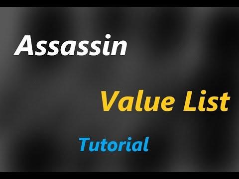 Roblox Assassin Zickoi Value List 2019