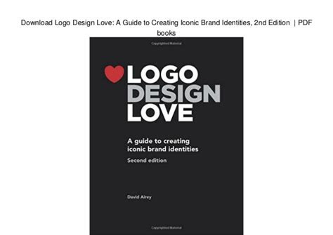 logo design love  guide  creating iconic