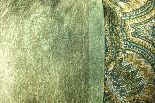 closeup- lion & paisley