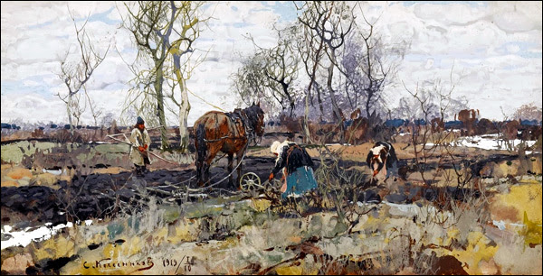 Stepan  Kolesnikov In the Fields 1919.jpg