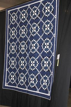 Blue and white quilt- I like this pattern in every color combo I have seen