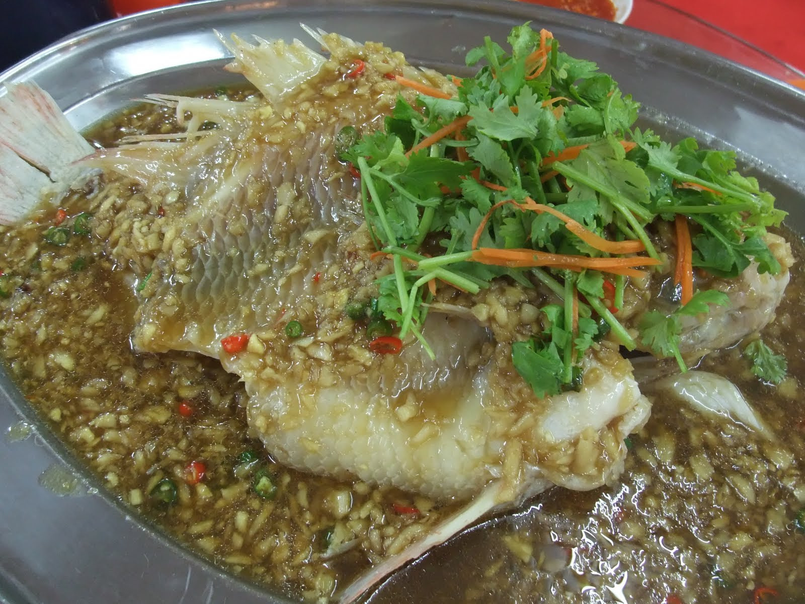 Market recipe steam ginger tilapia fish recipe for Is tilapia a fish