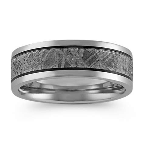 Men's Meteorite Wedding Bands at Shane Co.