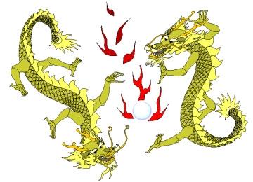 Window Color Vorlagen Chinesische Drachen