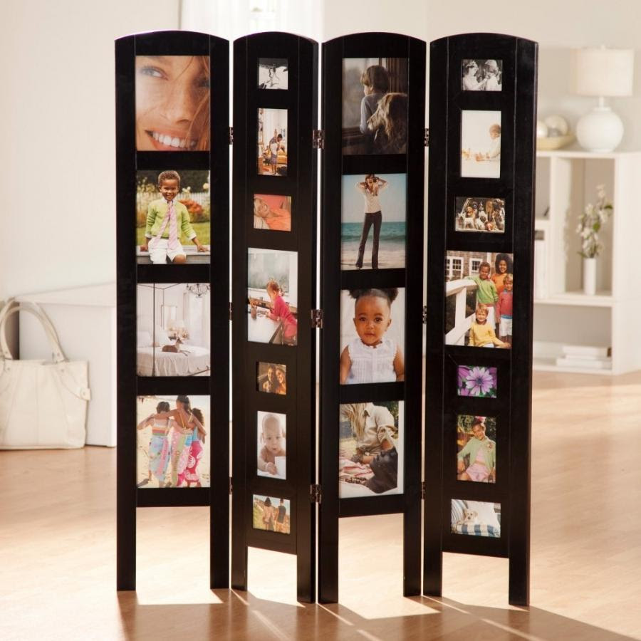 Memories Photo Frame Room Divider White 3 Panel