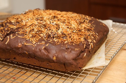 coconut brownie cooling on the new cooling rack