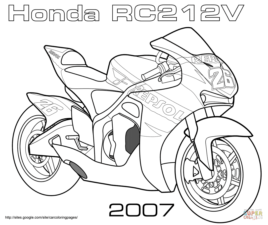motogp colouring pages
