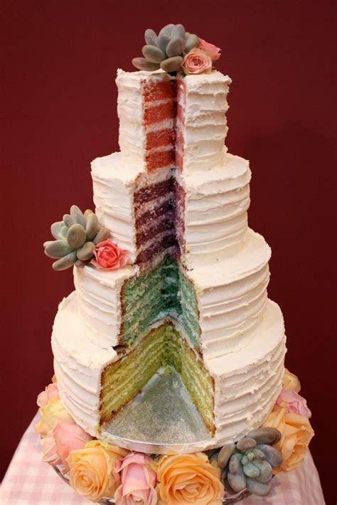 Best Rainbow Wedding Cakes   Anniversary Cake Ideas