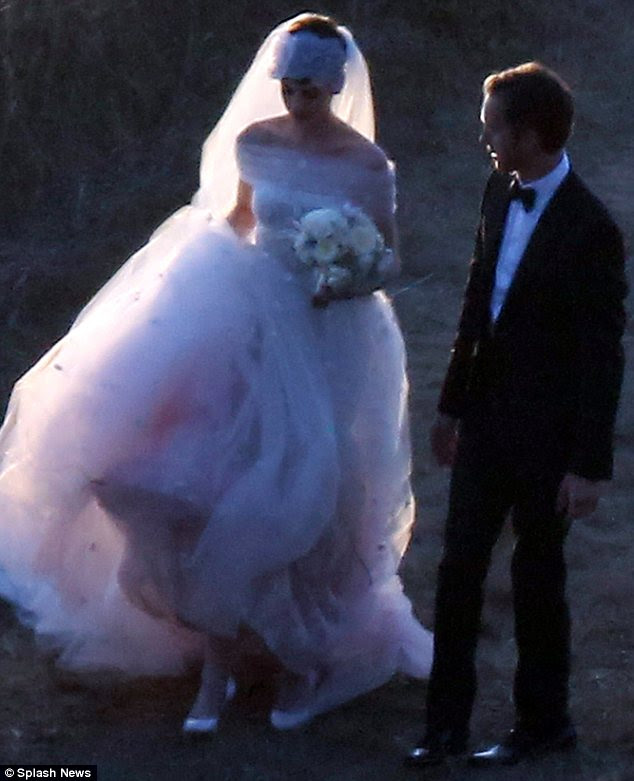 And the bride wore Valentino: Anne wore a vintage style wedding dress designed by Valentino