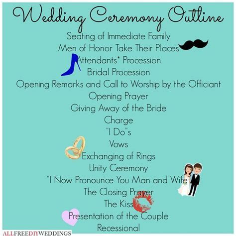 25  best ideas about Wedding ceremony outline on Pinterest
