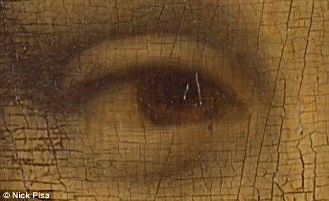 Hidden symbols: This eye is thought to contain L and V, the artist's iniitals