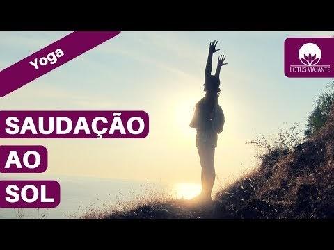 YOGA EM CASA - SURYA NAMASKAR - SAUDAÇÃO AO SOL (EM PORTUGUÊS)