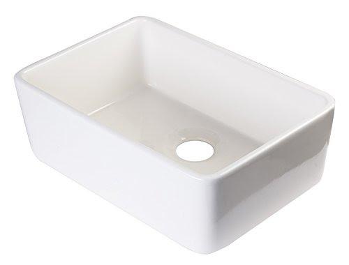 ALFI brand AB503 23-Inch v Fireclay Single Bowl Farmhouse Kitchen ...