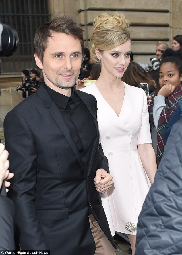 Formal affair: They had dressed up for the Cour Carree at the Louvre Museum event