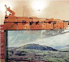 Τμήμα του φατνώματος της  συναρμολογούμενης «α λα  γκρεκ» στέγης