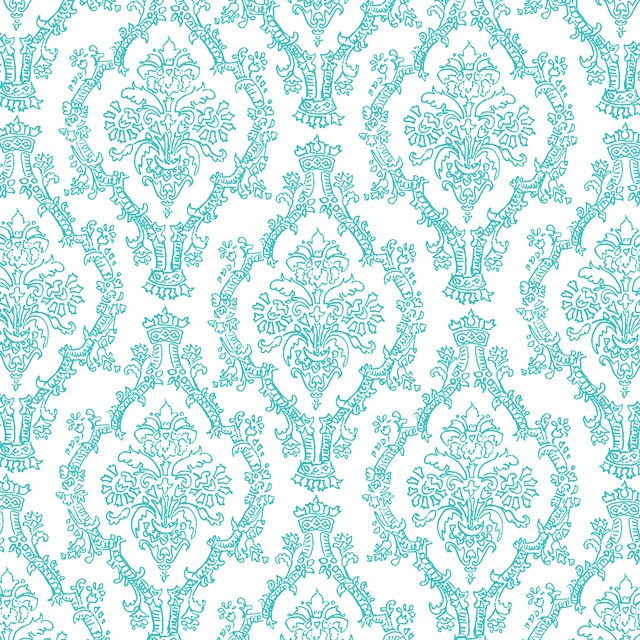 9 TURQUOISE pencil damask by mel stampz 2550 pxl sq