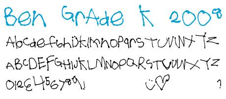 click to download Ben Grade K 2008