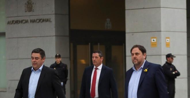 El exvicepresidente catalán Oriol Junqueras a su llegada a la Audiencia Nacional. REUTERS/Susana Vera