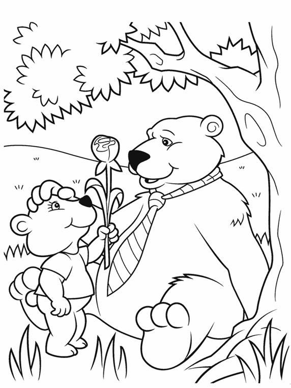 Daddy Bear Coloring Page | crayola.com