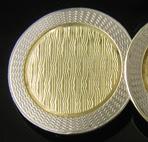 Krementz yellow and white gold cufflinks. (J8997)