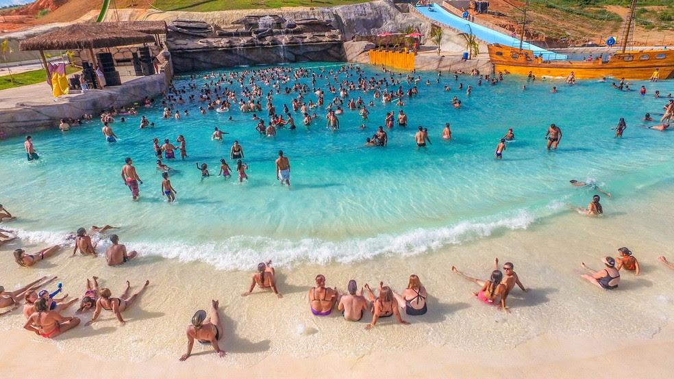 Para o próximo verão, Minas Beach quer ampliar número de atrações e de visitantes (Foto: Take Produções/Minas Beach Thermas Resort/Divulgação)