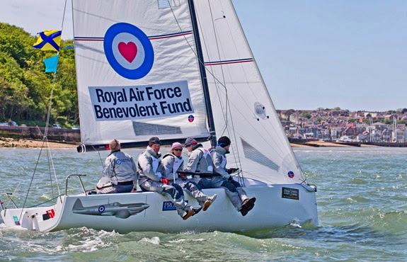 J/70 RAF Spitfire sailing fast