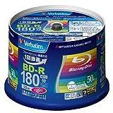 三菱化学メディア Verbatim BD-R(Video) 1回録画用 180分 1-6倍速 50枚スピンドルケース50P インクジェットプリンタ対応(ホワイト) ワイド印刷エリア対応 VBR130RP50V4