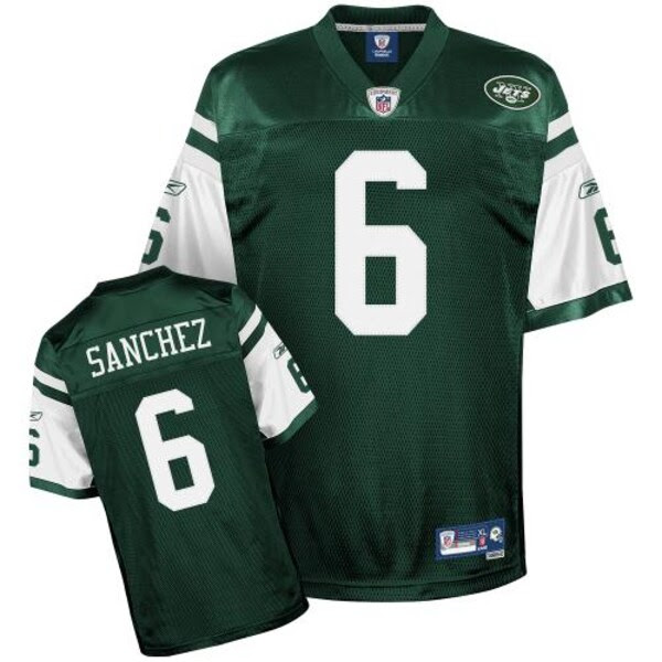 Reebok NFL Equipment New York Jets 6 Mark Sanchez Youth Green Premier Football Jersey NFLShop.com