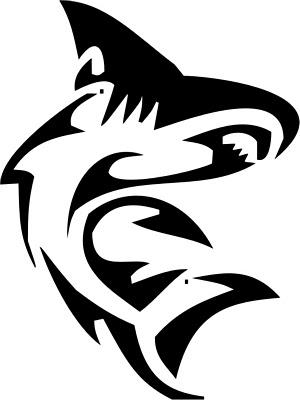 animal tattoo tribal horse. Animal Tattoos Usual tribal shark tattoo design