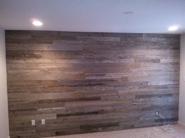 reclaimed wood wall as accent