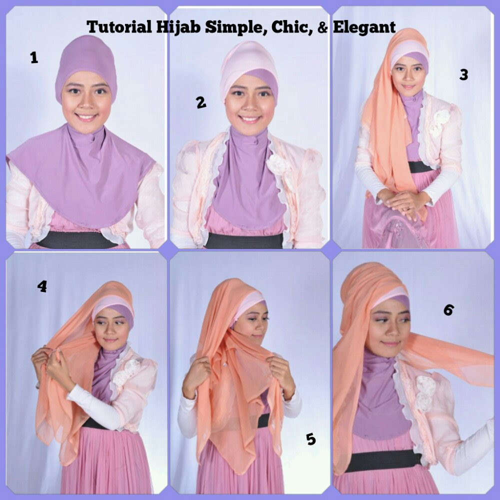 Hijabers Tutorial Sakinah Hijab Tutorial Simple Chic Elegant