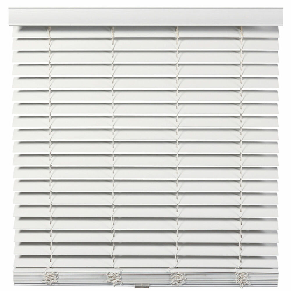 Cordless/Wandless 2 inch Faux Wood Blinds - White - Free ...